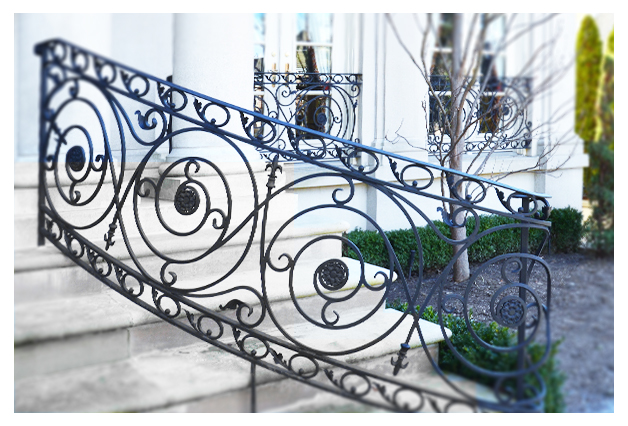 Custom Wrought Iron Railings Exterior