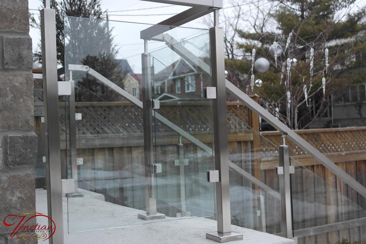 Exterior Glass Railings Indoor Glass Railings Venetian Iron
