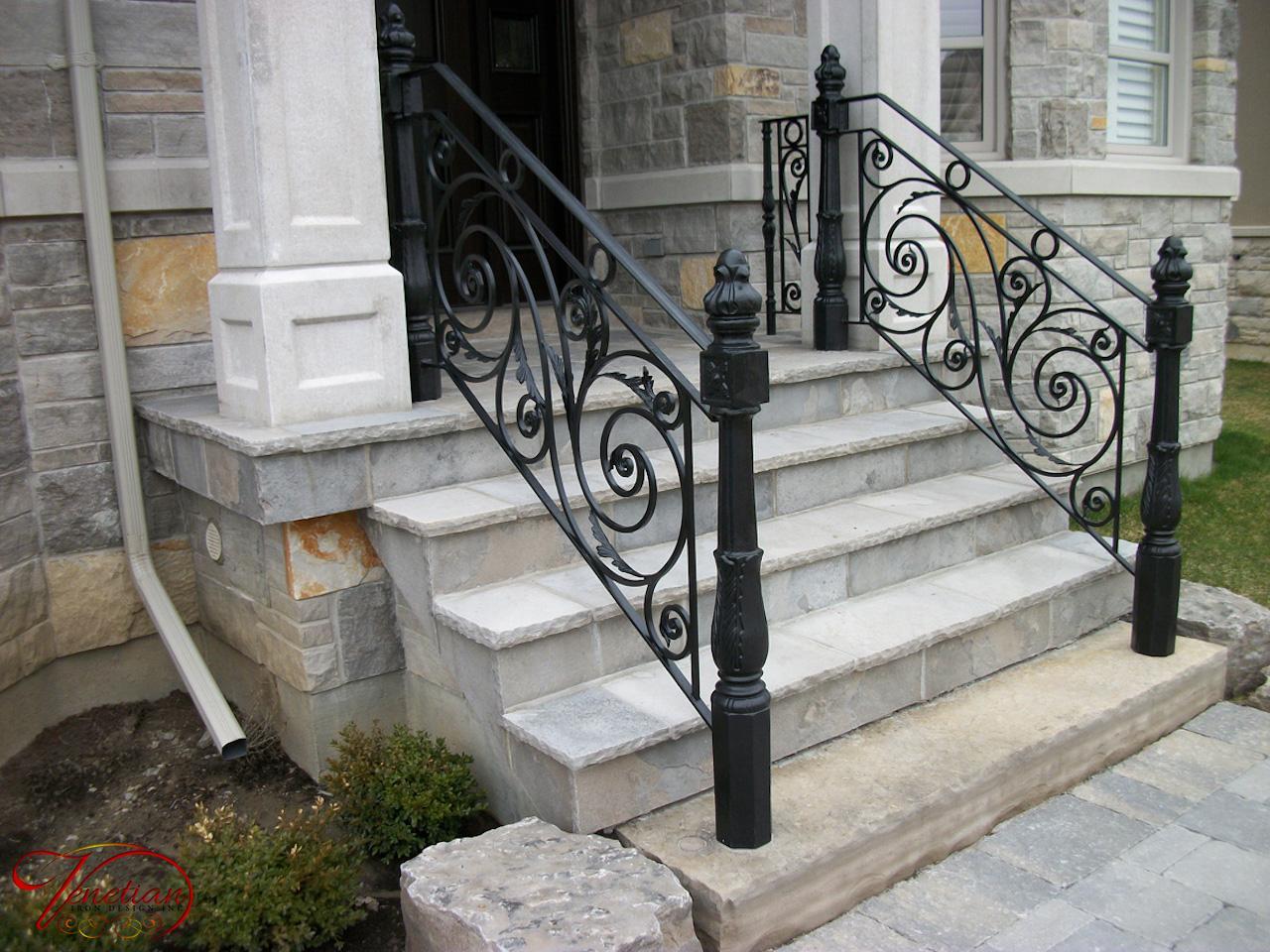 Wrought Iron Railings [exterior] - Venetian Iron Designs Inc on modern railings exterior, iron handrails exterior, steel railings exterior, stainless steel handrails exterior, wooden railings exterior, deck railings exterior, doors exterior,